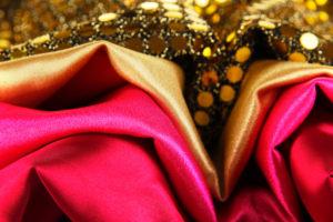Particolari di vari tipi di tessuti