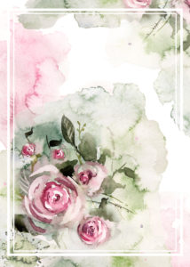 Particolare di carta da parati con rose in stile Shabby Chic