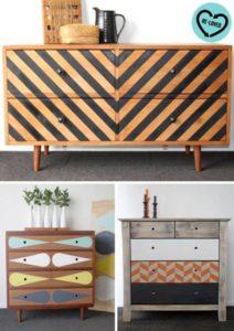 3 esempi di mobili con decorazioni optical