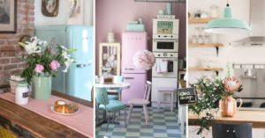 Esempi di cucine anni 50 in tinte pastello